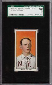 Rare 1909-11 T206 Fred Tenney Piedmont 150 New York SGC 60 / 5 EX