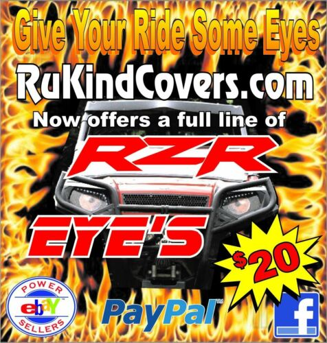 Polaris Ranger RZR 800 YELLOW Eye/'s RuKind Cover/'s HeadLight Covers ALL YEARS