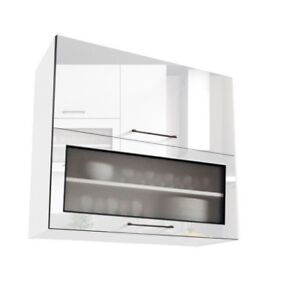 Image Is Loading White Gloss Kitchen Unit Cabinet Cupboard Wall Gl