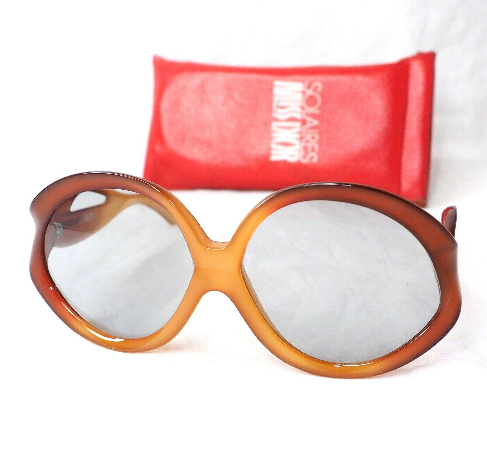 Christian Dior MISS DIOR 125 vintage amber brown oversized butterfly sunglasses