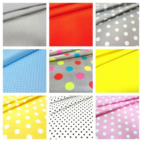 2mm 4mm Polka Dot 100/% Cotton Fabric 40mm quilting patchwork 20mm 7mm