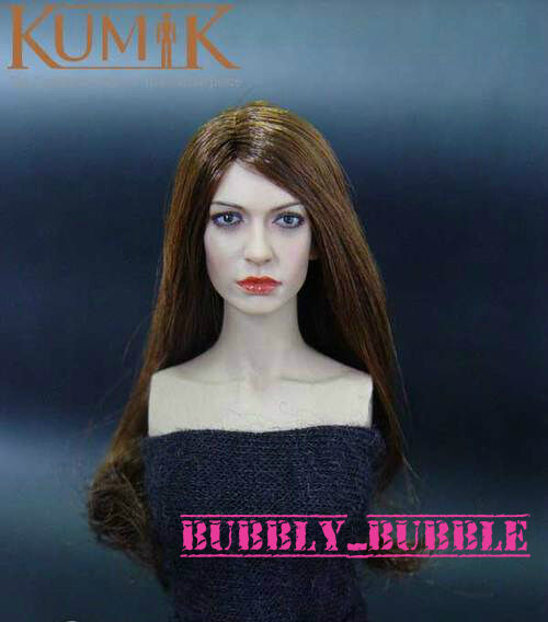 KUMIK Anne Hathaway 1 6 Scale Scale Scale Head Sculpt For Hot Toy Phicen SHIP FROM USA a20204
