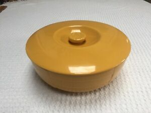 Hotpoint Warm Yellow Refrigerator Dish Heavy Porcelain Covered Dish for Leftovers The Hall China Company Hotpoint Refrigerators