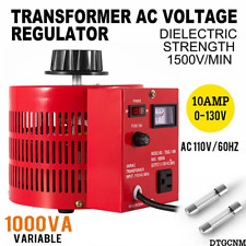 New Listingvariac Transformer Variable 1000va 1kva Ac Voltage Regulator 10amp 0130v Usa