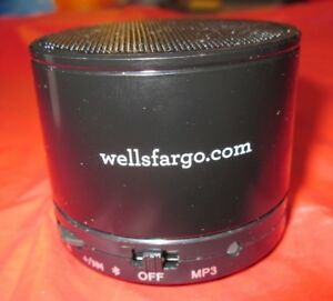 Wells-Fargo-Bluetooth-speaker-New-with-box-cord-and-instructions