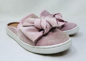 3d468f30f1e Details about UGG Women's Luci Bow Slip-On Sneaker Mule in Seashell Pink  Suede Size 6