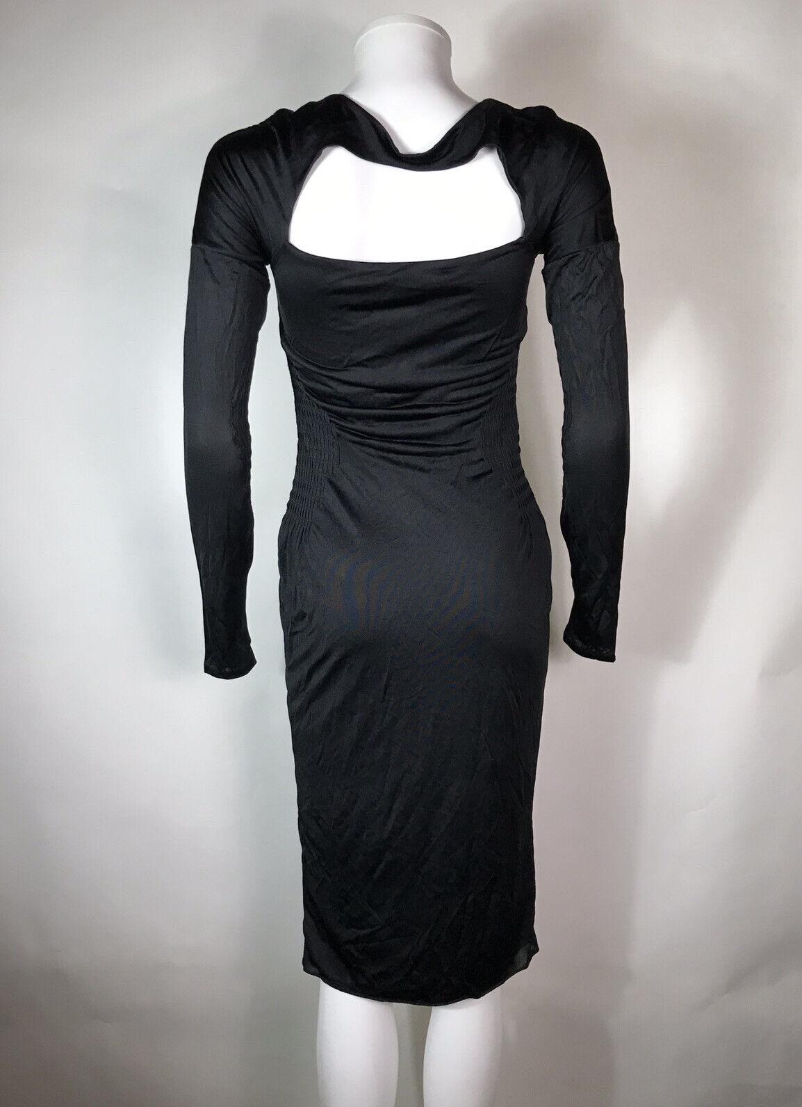 Rare Vtg Gucci Black Cut Out Dress S - image 5
