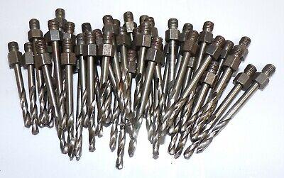 Lot of 12 HSS Straight Shank Number #20 x 2-1//4 Twist 2 Flute Drill Bits New