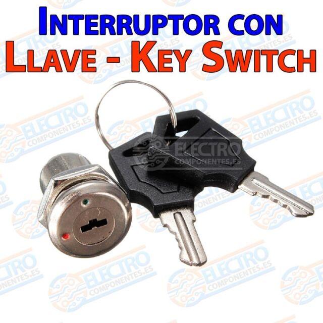 Interruptor ON OFF con llave 1A 220v Key Switch Keylock - Arduino Electronica DI