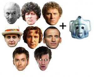 Doctor-Who-50th-Anniversary-Variety-9-Set-Card-Face-Masks-with-Classic-Cyberman
