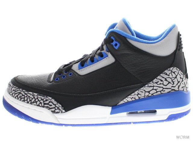 AIR JORDAN 3 RETRO SPORT BLUE 136064-007 black/sport blue-wolf grey 3 Size 9.5