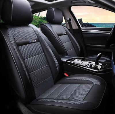 PEUGEOT 3008 FRONT /& REAR CAR FULL SET SEAT COVERS CLOTH BLACK