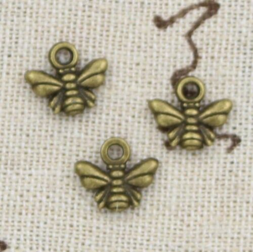 30pcs Charm Cute Honey Bee Pendant Connector Earring Finding Jewelry Making