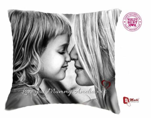 ANY PHOTO /& WORDING PERSONALISED MOTHERS DAY CUSHION GIFT
