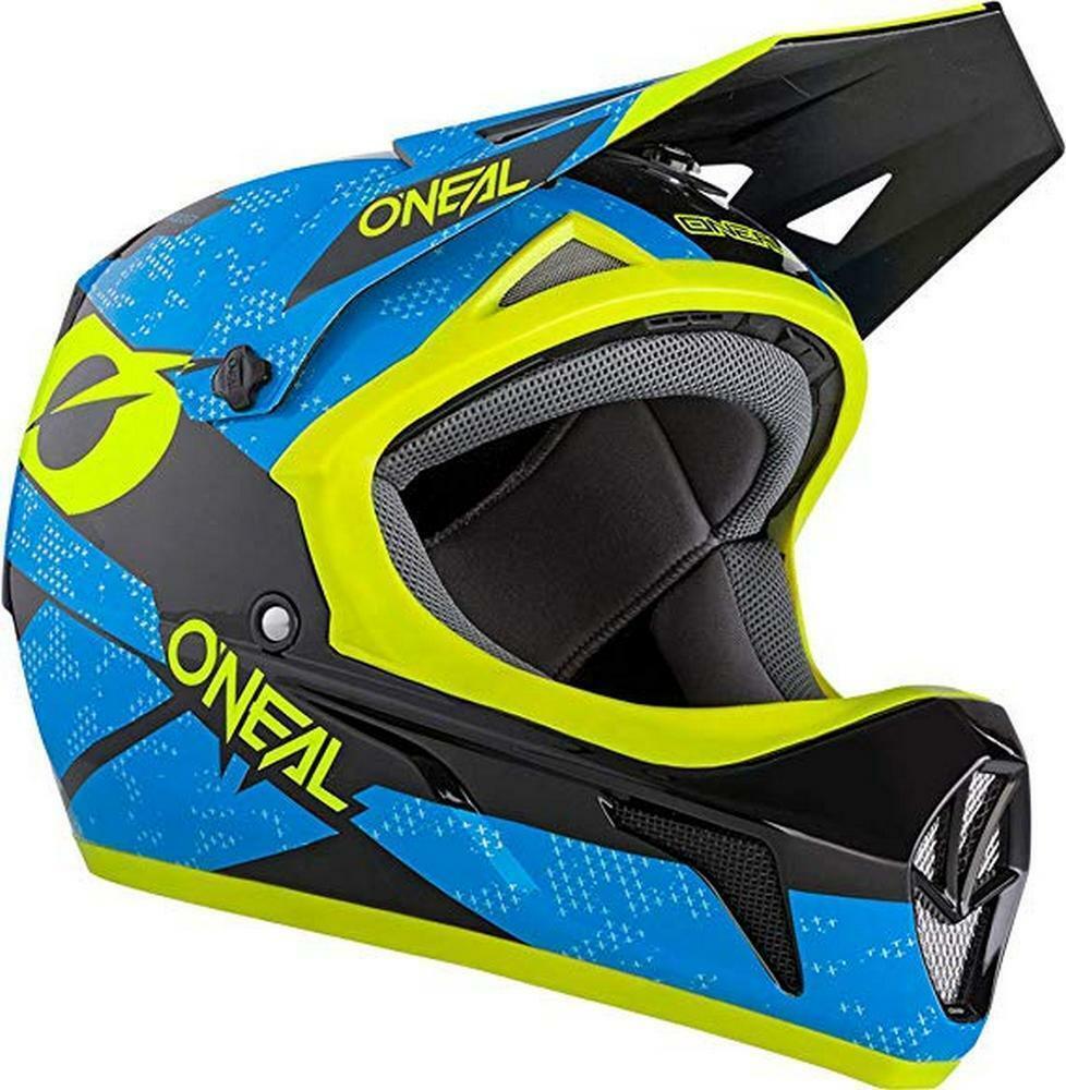 Specialized Dissident Fullface Downhill Mountain Bike Helmet Large Neon Blue For Sale Online Ebay