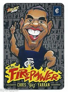 2015 Select Champions Firepower Caricature Laser Foil (FC8) Chris YARRAN Carlton