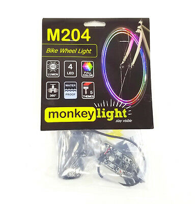 Monkey Light M204 LED Bike Wheel Spoke Color Light 5 Themes Flashing Safety