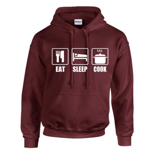 Enfants-Personnalisé-Cadeau Cuisine Top Chef cuire à Capuche Adulte Eat sleep
