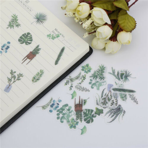 40pcs food bouquet plants text stickers decor diy diary planner scrapbo X