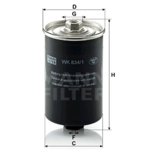 MANN Filtro Carburante in Linea per AUDI 100 1.8 CAT 1.8 2.0 2.0 e 2.0 e 16 V 2.1 2.2 CAT