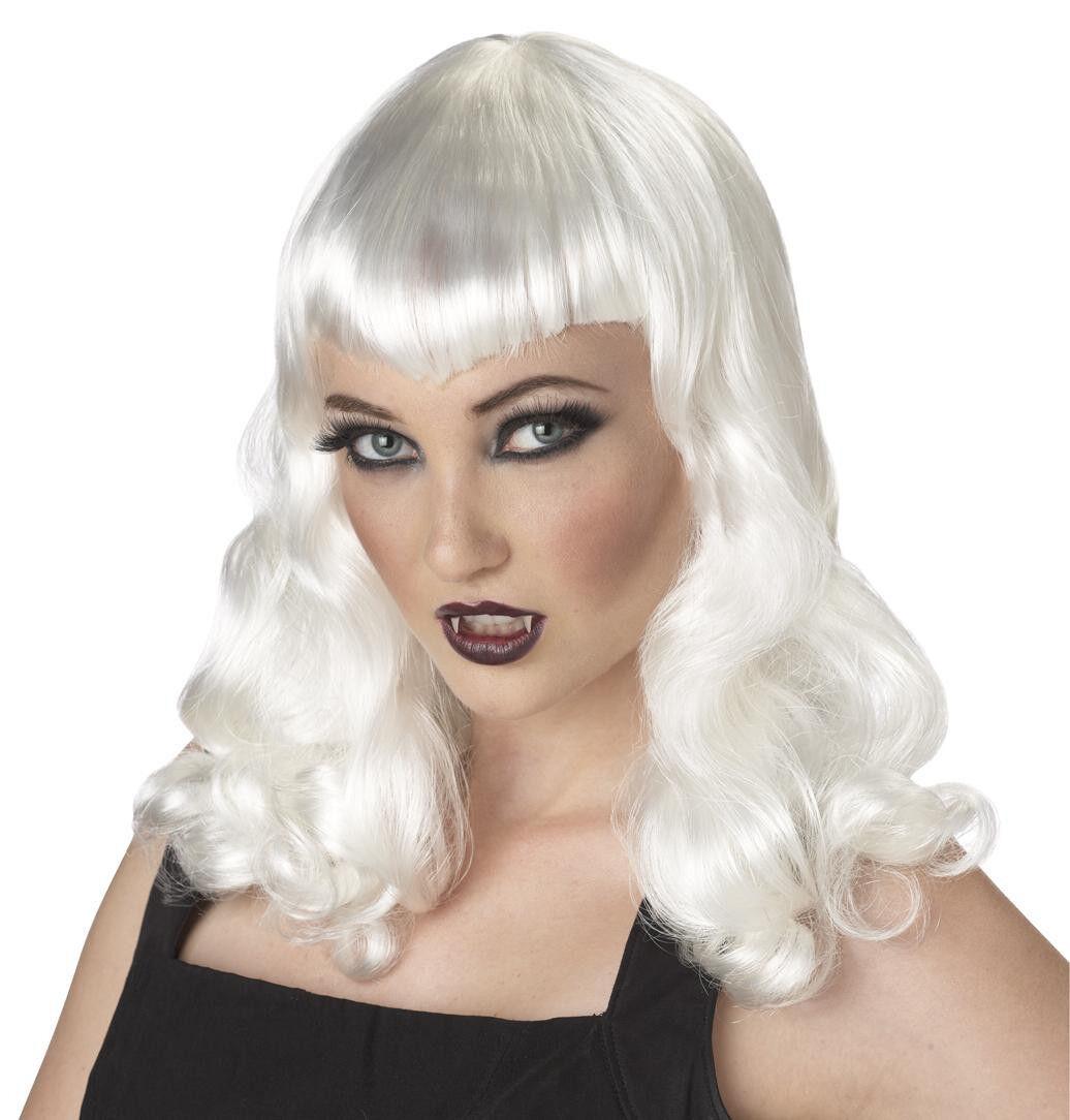 Vampire Platinum: Dark Gothic Eternal Desire Vampire Women Costume Wig