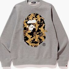 A BATHING APE MEDICOMTOY BE@R CREWNECK Gray FROM JAPAN BAPE TOKYO Authentic