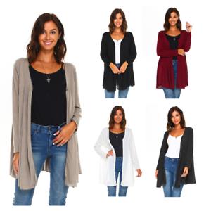 Women-039-s-Long-Sleeve-Loose-Fit-Flare-Flowy-Cardigan-Sweater-Jacket-Sizes-S-3X