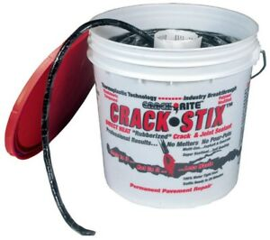 Crack-Stix 10 lb. 125 ft. Medium Black Permanent Blacktop Crack Filler