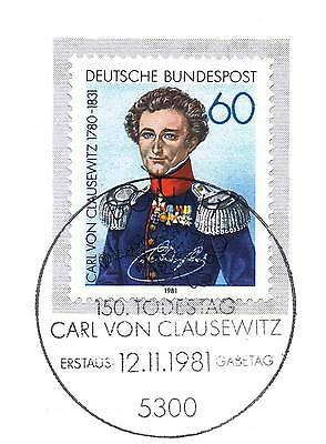 Brd 1981: Carl Von Clausewitz Nr 1115 Mit Dem Bonner Ersttags-sonderstempel! 156 Die Nieren NäHren Und Rheuma Lindern