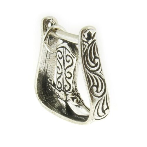 Argent Sterling 925 étrier avec Boot Charm Made in USA