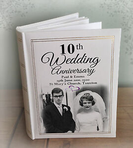 Details About Personalised Large Luxury Photo Album 300 6x4 Photos 10th Wedding Anniversary