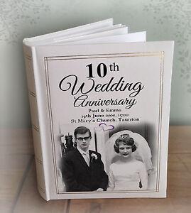 Personalised Large Luxury Photo Album 300 6x4 Photos 10th Wedding