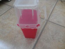 Bd Sharps Container 14 Qt Red Rectangular Plastic For Needles Razors Disposal