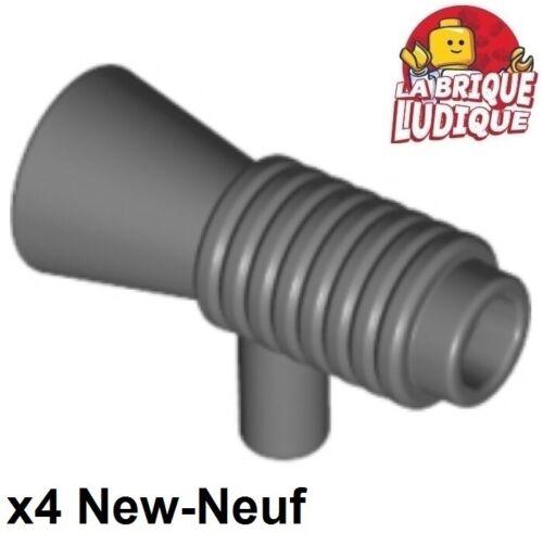 Lego 4x Minifig utensil Loudhailer Megaphone SW Blaster gris foncé 4349 NEUF