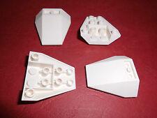 Lego (4855) 4 Schräg-/Keilsteine invers 4x4x1, in weiß aus 7751 4210 7198 8085