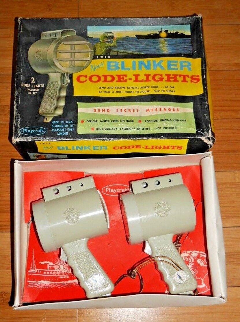 marca Código De Doble Azul Marino Marino Marino Luz Intermitente Luces Jugarcraft Hasbro Juguete Raro & Trabajo En Caja C846  almacén al por mayor