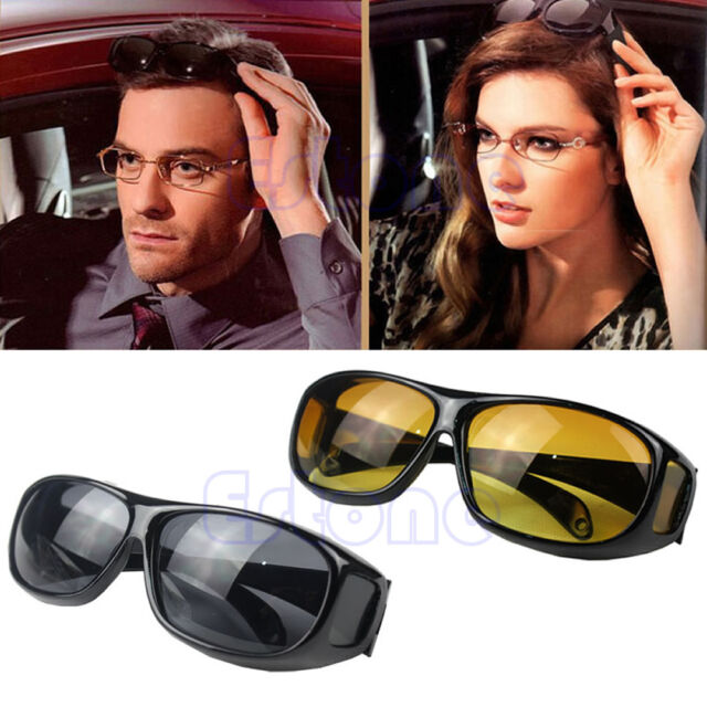 Unisex HD Lenses Night Vision Goggles Driving Glasses UV Protection