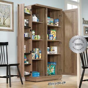 Image Is Loading Tall Storage Kitchen Cabinet 2 Door Organizer Pantry