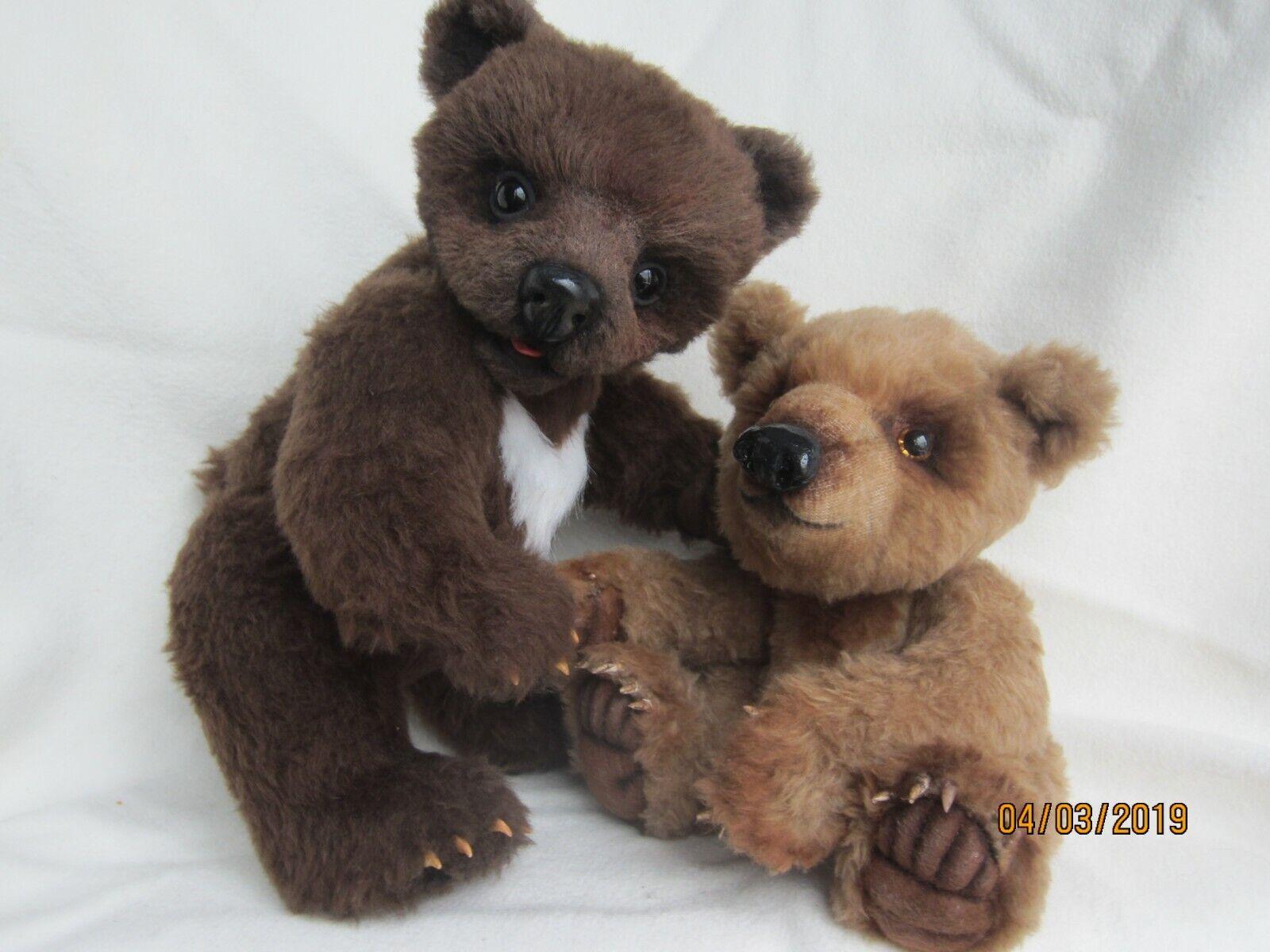 Teddybär neu handgemacht Unikat einzigartig braun weiß