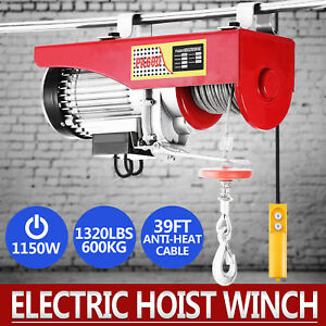 Details about Lift Electric Hoist 1320LBS 110V Overhead Crane Lift Electric  Wire Hoist Remote