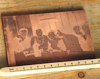 FrÖhliche Runde Galvano Druckstock Kupferklischee Druckplatte Druckerei Bleisatz Weich Und Rutschhemmend
