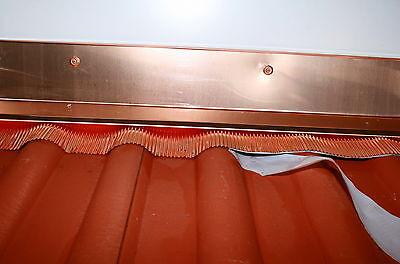 Wandanschluss/Überganng Dachziegel Wand aus Kupfer.