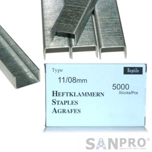5000 RAPID 10,6 x 8 x 1,3 Flachdrahtklammern 11//8 Typ 140 Hammertacker Klammern
