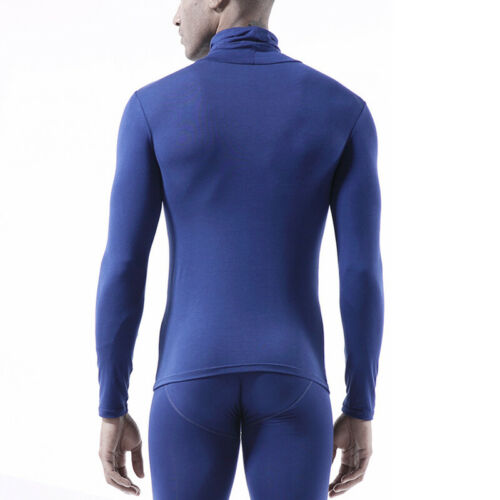 Hommes Chaud Slim Fit Col Roule Manches Longues Pull Thermo-Maillot Corps Tops Tunique