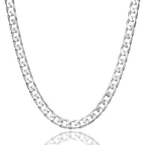 Men-039-s-Jewellery-Sterling-Silver-925-Necklace-Curb-Link-4-5-MM-Chains-From-Canada