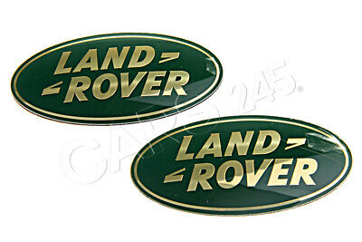 NEW GENUINE PART# DAG100330 LAND ROVER OVAL FRONT GRILLE BADGE GREEN ON GOLD