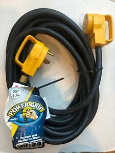 Camco 55191 Power Grip Extension Cord 25 30 Amp Male 30 Amp Female 55 8410 Ebay