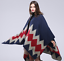 Women-Scarf-Winter-Patchwork-Plaid-Poncho-Cape-Blanket-Cloak-Wrap-Shawl-Fashion miniature 9