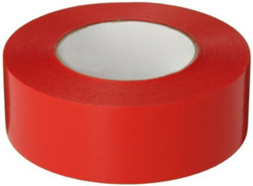 50mm x 66m 36 ROLLS x RED Coloured Packing Parcel Tape