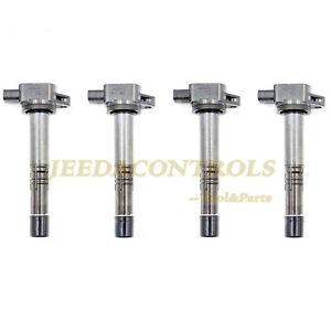 GENUINE Denso 4Pcs Premium High Performance Ignition Coil 673-2301 fit for Honda